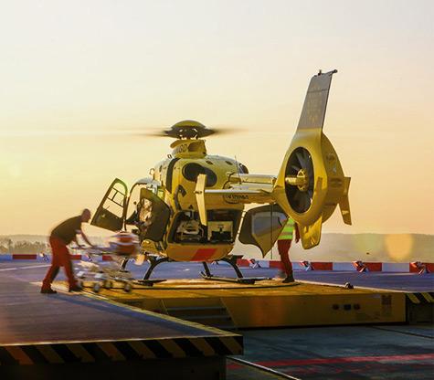 Foto eines Helicopters der ADAC Luftrettung