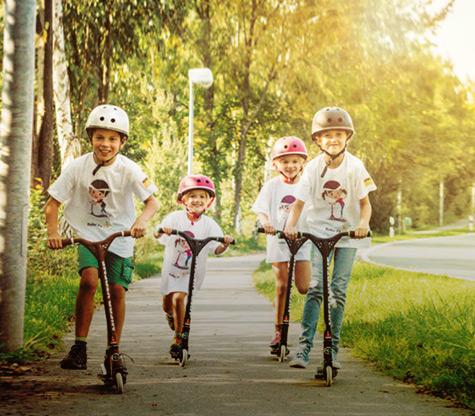 Förderschwerpunkt Unfallprävention Roller Fit! bei Grundschülern
