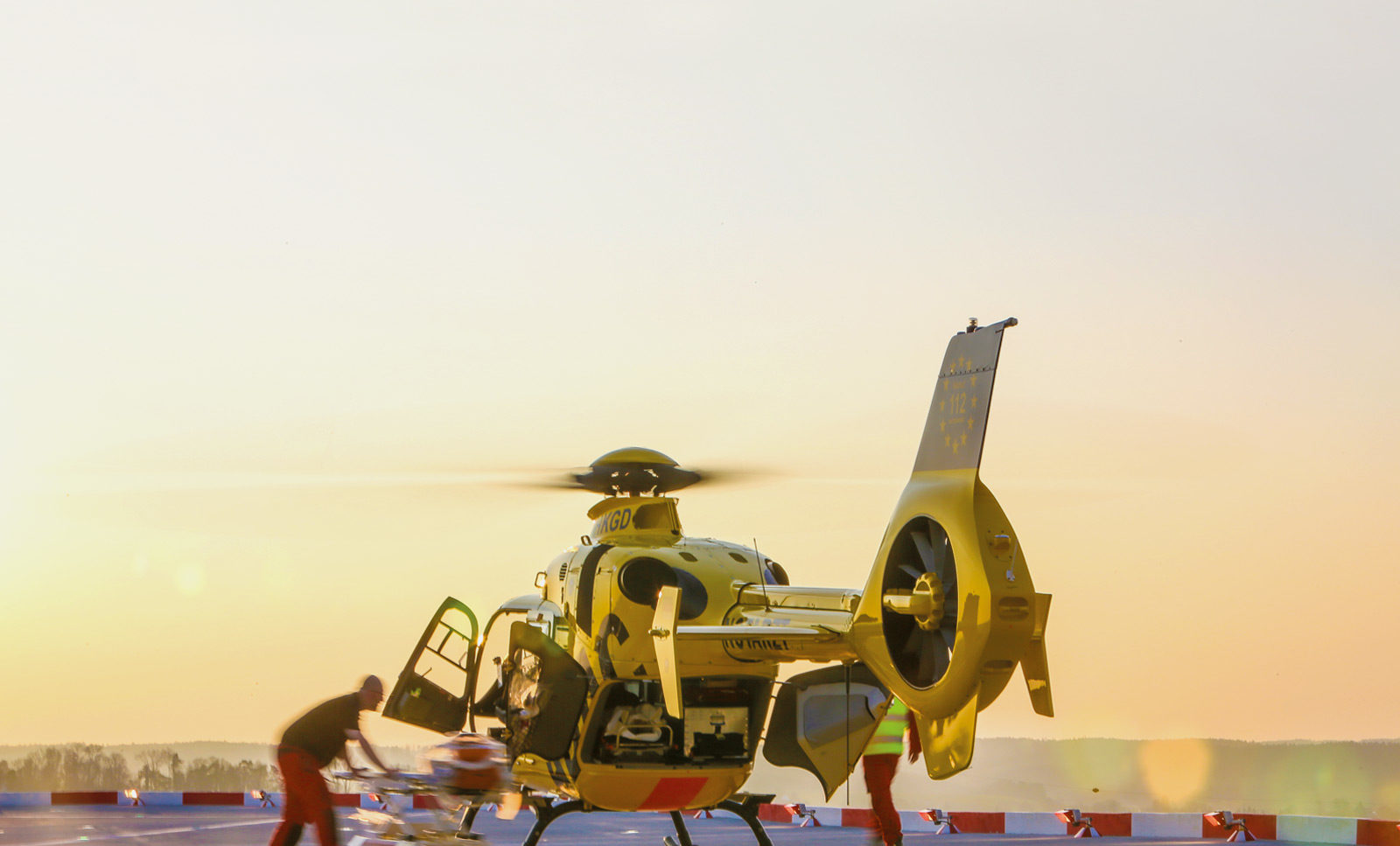 Rettung aus Lebensgefahr mit Hubschrauber der ADAC Luftrettung